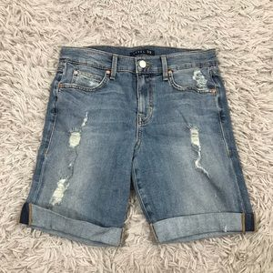 Level 99 27 Roll Up Bermuda Jean Shorts Mid Rise